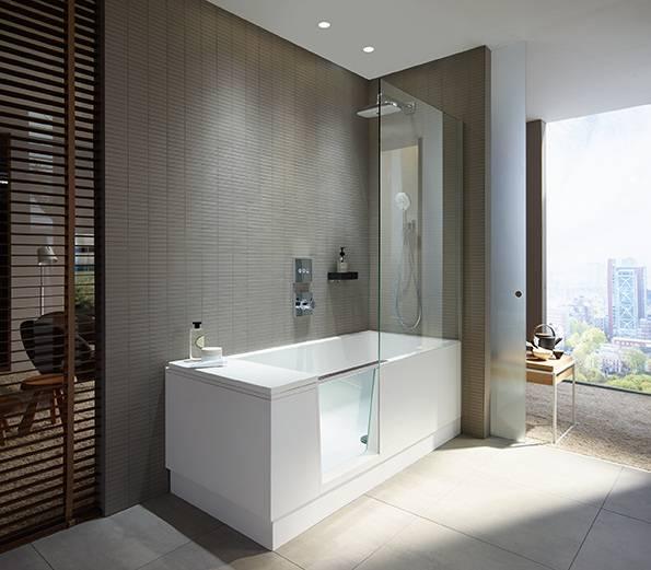 Duravit: Walk In Dusche Und Badewanne In Einem