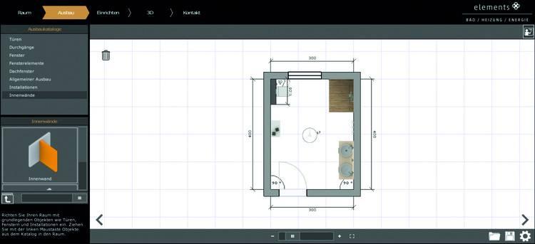 elements gc gruppe bietet 3d badplaner f r endverbraucher haustec. Black Bedroom Furniture Sets. Home Design Ideas
