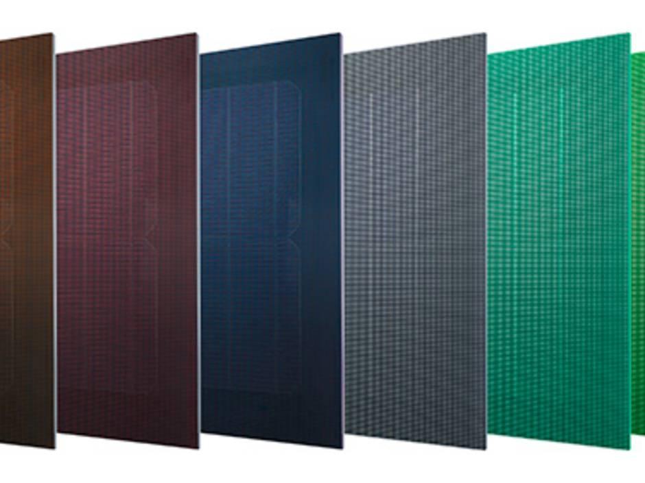 photovoltaik bunte fassaden mit saphir skin modulen haustec. Black Bedroom Furniture Sets. Home Design Ideas