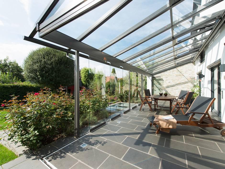 vielseitiges terrassendach sdl atrium von solarlux haustec. Black Bedroom Furniture Sets. Home Design Ideas