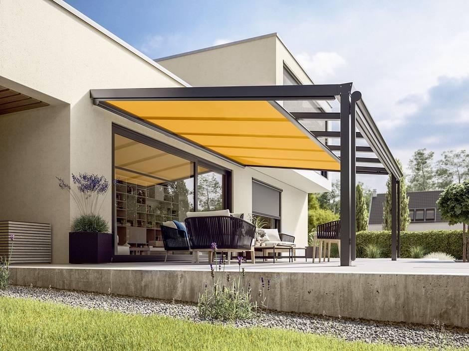 sonnenschutz auf oder unter dem glasdach haustec. Black Bedroom Furniture Sets. Home Design Ideas