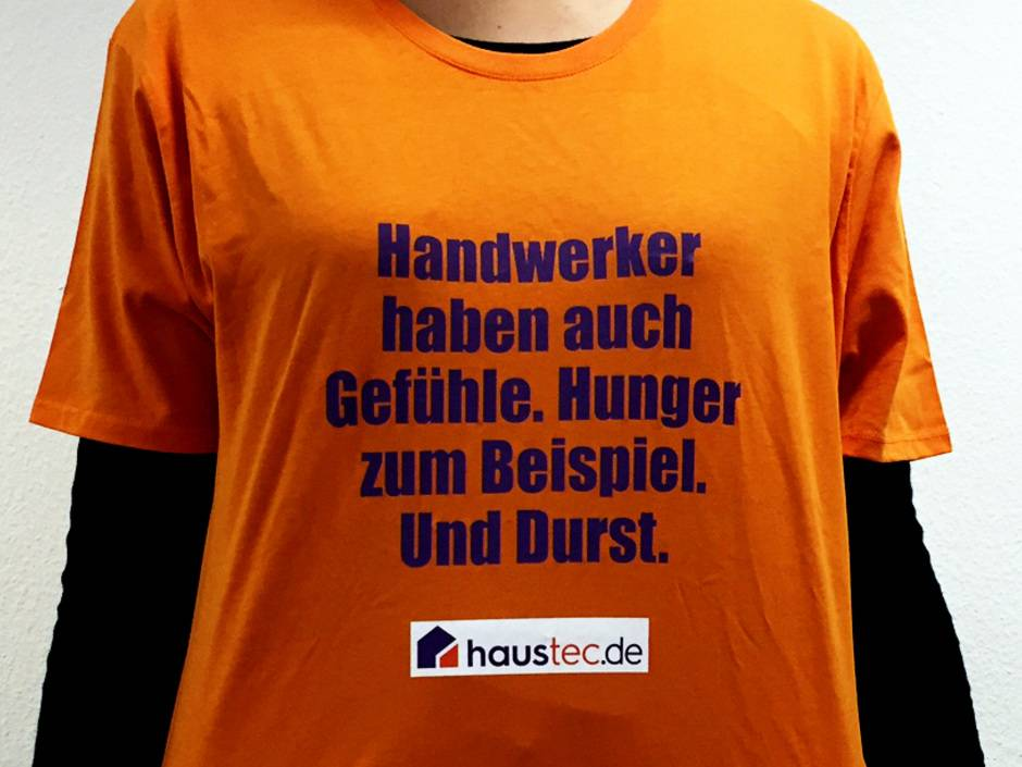 gewinnspiel das ultimative handwerker t shirt haustec. Black Bedroom Furniture Sets. Home Design Ideas