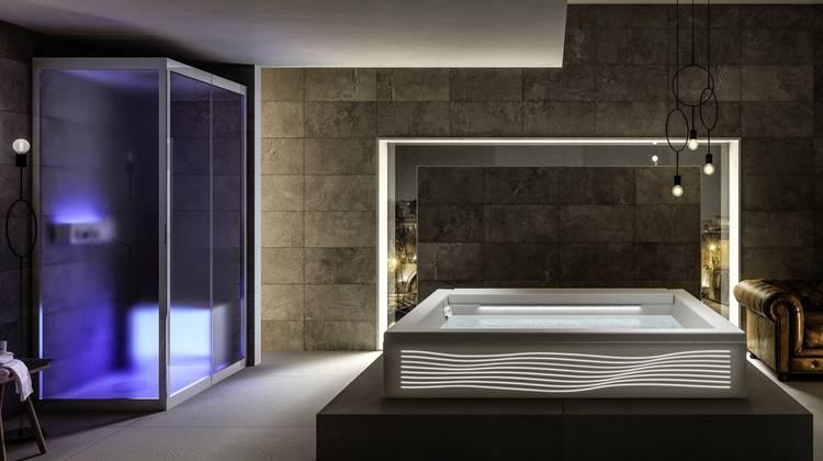 whirlpoolwanne seaside luce von teuco haustec. Black Bedroom Furniture Sets. Home Design Ideas