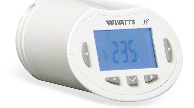 elektronisches thermostat intelligent heizen mit dem wattsvision system haustec. Black Bedroom Furniture Sets. Home Design Ideas