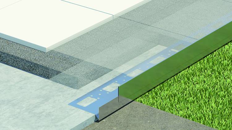 durabal st begrenzungsprofil f r balkone und terrassen haustec. Black Bedroom Furniture Sets. Home Design Ideas
