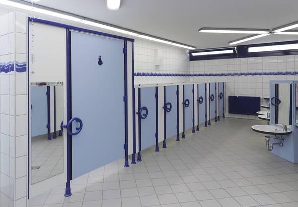 WC-Trennwände für kinderfreundliche Örtchen - Haustec