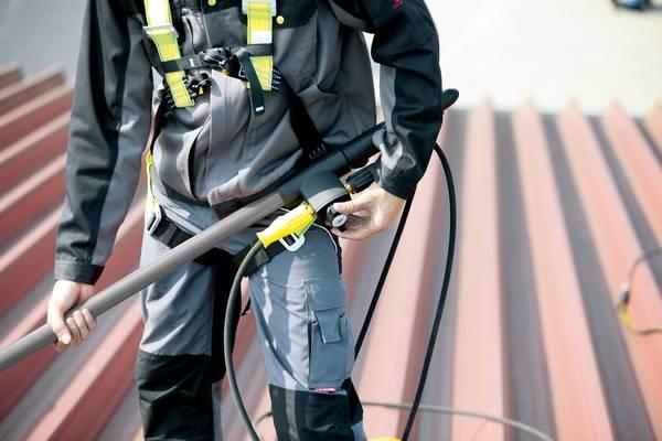 Absturzsicherung Geschirr kärcher isolar für die reinigung photovoltaikanlagen haustec