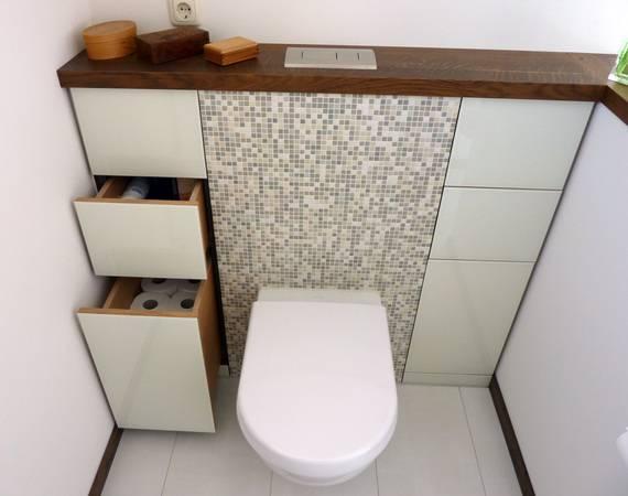 Bild 8: Der Sonst Ungenutzte Raum In Der WC Vorwand Wird Zum Stauraum Für