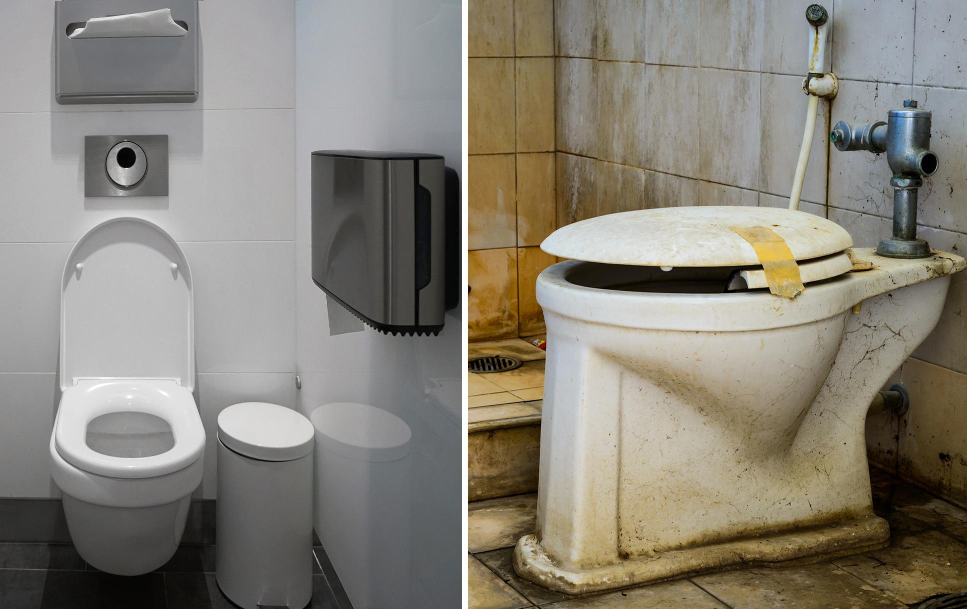Waschräume ausreiben Öffentliche Waschraum